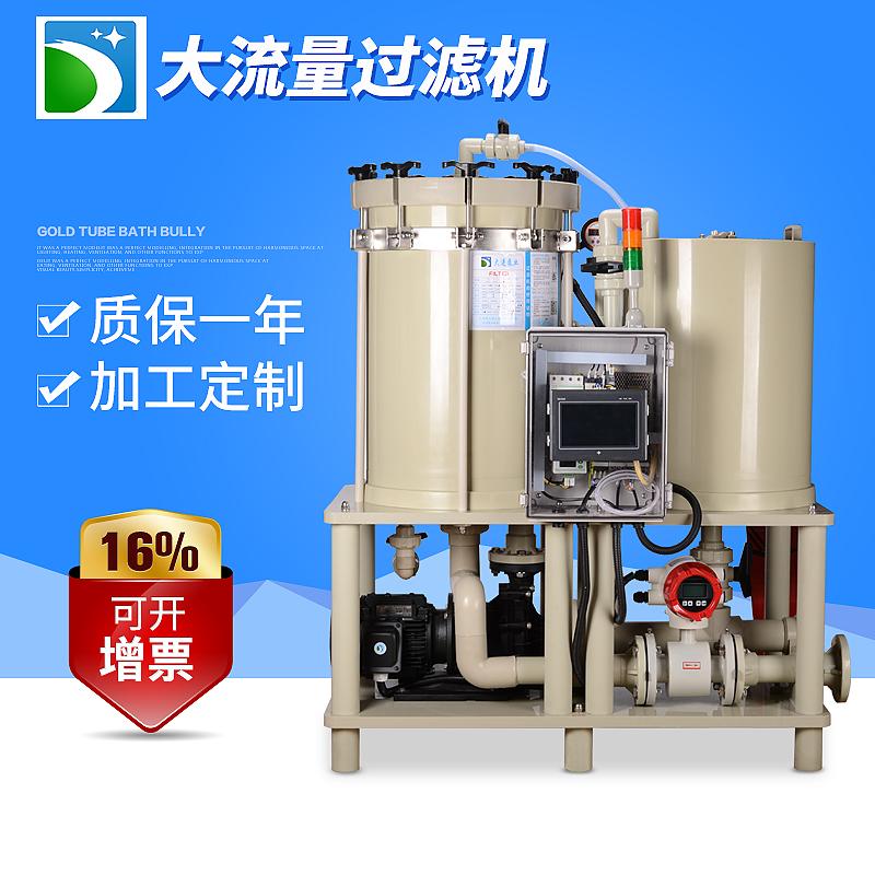 DJM系列高精密大流量电镀药液过滤机